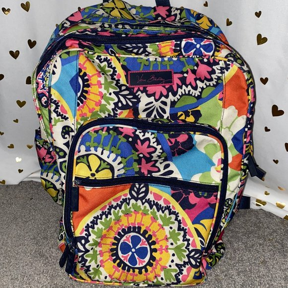 VERA BRADLEY Rainbow Floral Backpack- Large